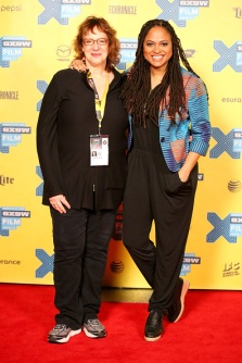 SXSW's Janet Pierson and filmmaker Ava DuVernay at this year's fest. Credit: Heather Kennedy/Getty Images.