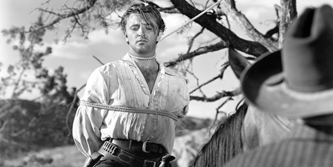 Bound for trouble: Robert Mitchum in 1947's Pursued .