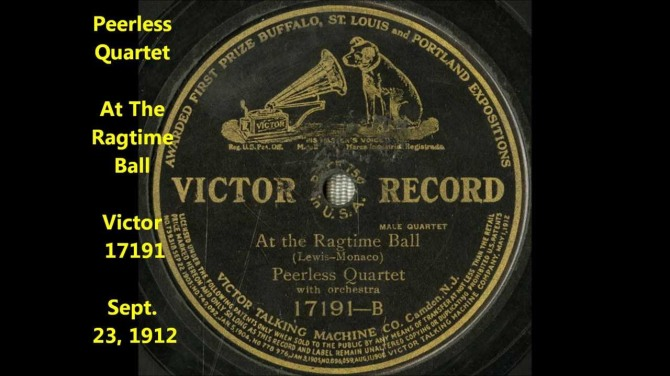 "Click to view the illustrated song, ""At the Ragtime Ball"""