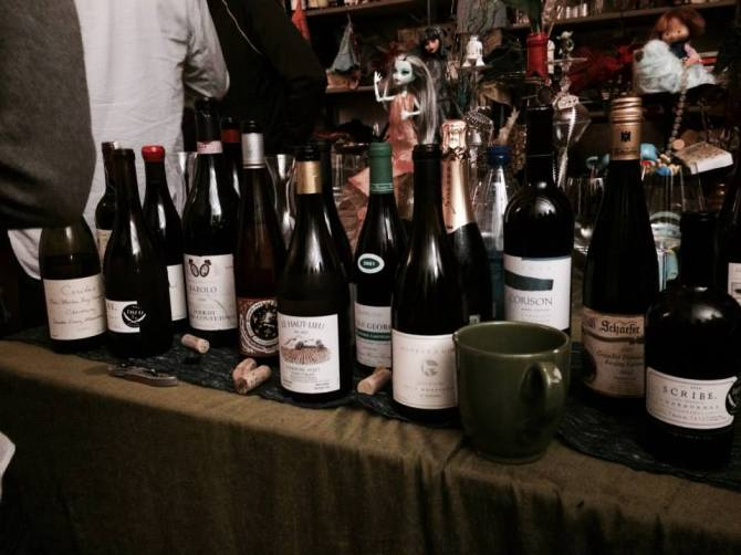 Bottles from Wine Dinner #42, co-hosted with Emily Schindler.