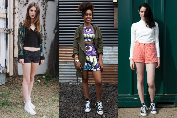 Shorts combined with flowing shirts and coats were on trend in Austin this year. Credit: www.teenvogue.com.