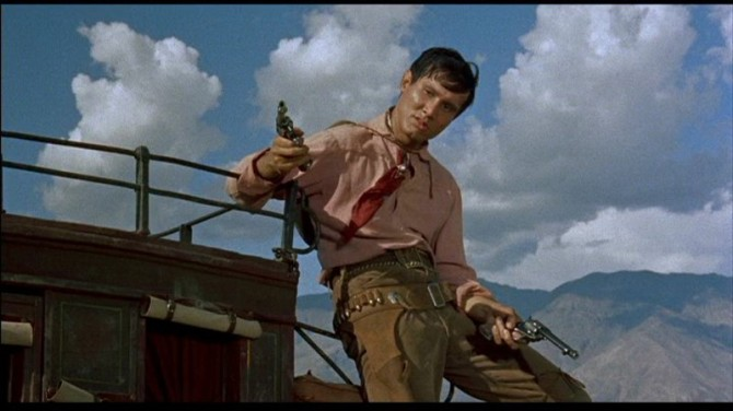 Aww, shoot: Richard Boone in 1957's The Tall T .