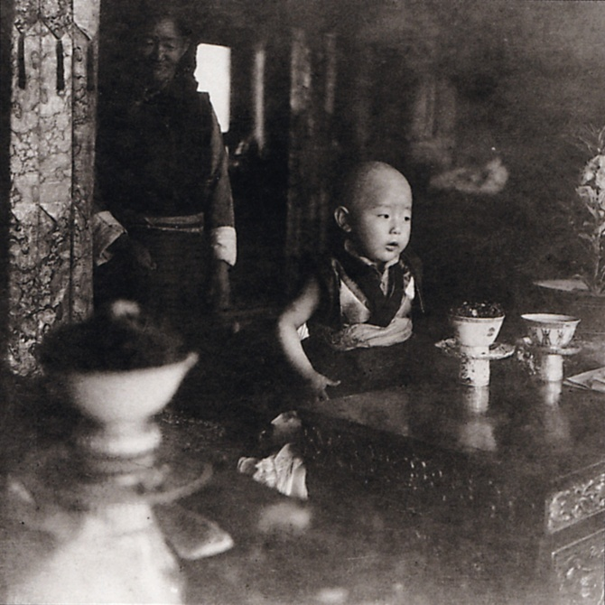 Gelek Rimpoche—seen here at the age of 4_is the subject of American Rimpoche.