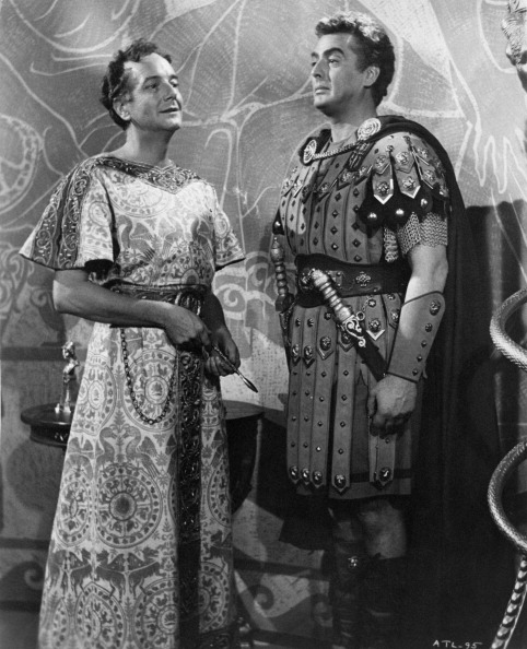 When in Rome…: Maurice Evans plays Caesar to Victor Mature's captain in Androcles and the Lion .