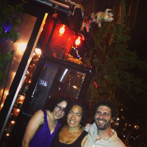 Caitlin Sherman, Josh Marston and I. Spotted Pig, West Village. 2013.