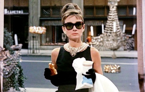 Audrey Hepburn in Breakfast at Tiffany's (1961).