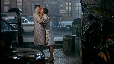 George Peppard and Audrey Hepburn in Breakfast at Tiffany's (1961).