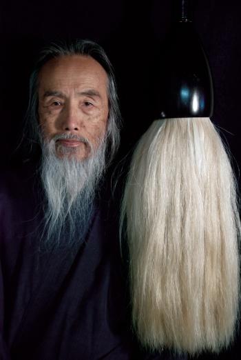Kazuaki Tanahashi in Painting Peace.