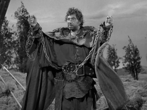 Robert Newton hams it up as Ferrovius in Androcles and the Lion.