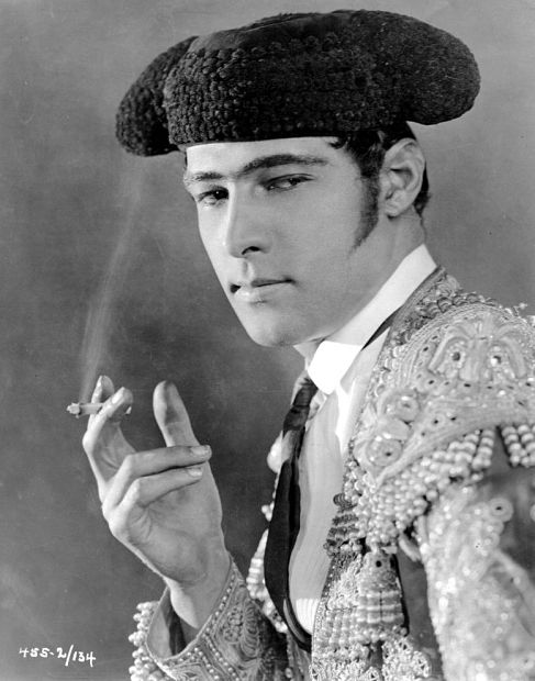 Where there's smoke: Rudolph Valentino lit up the screen in the 1922 version of Blood and Sand .