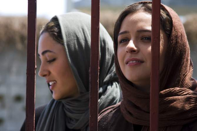 Golshifteh Farahani and Taraneh Alidoosti in a scene from Asghar Farhadi's ABOUT ELLY. Credit: Courtesy of Cinema Guild.