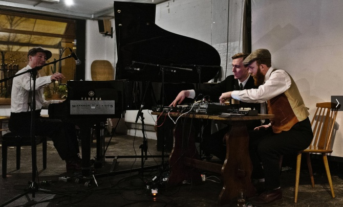 Matti Bye and This Forgotten Land (Joel Danell & John Henriksson) at Café OTO in London. Credit: Dawid Laskowski