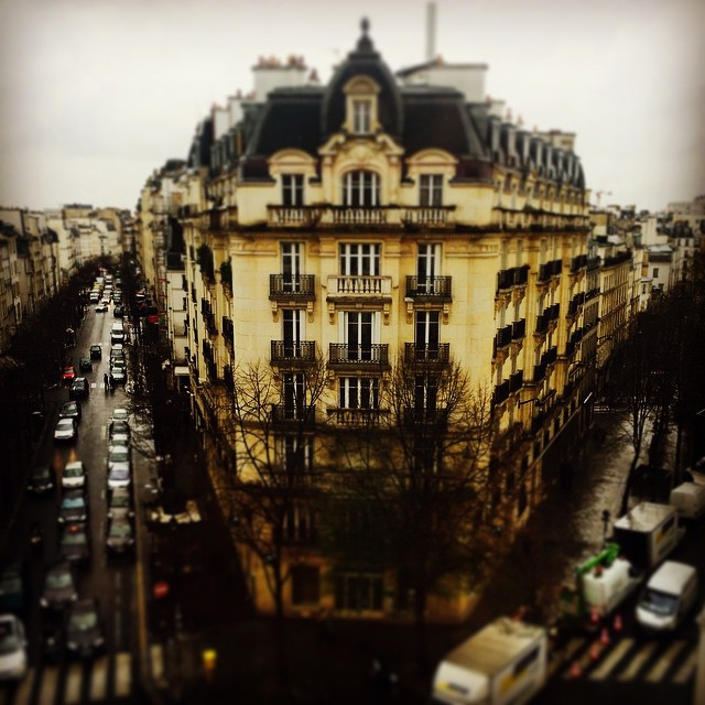 A room with a view—our apartment in La Marais, Rue de Turenne.