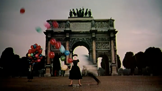 Jo at the Arc de Triomphe in Funny Face (1957).