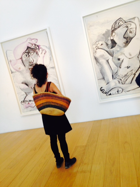 Me — captured by my daughter, Musee Picasso. Photo by Royal Borja Bernberg.