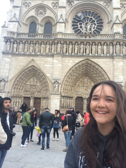 Royal seeing Notre Dame for the first time.