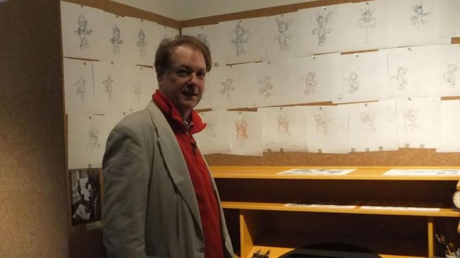 Bill Plympton at the Walt Disney Family Museum in San Francisco.