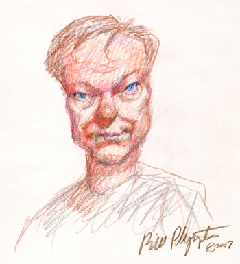 Self-portrait by Bill Plympton, 2007.