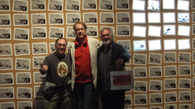 Steve Segal, Bill Plympton and EDF publisher Gary Meyer at the Walt Disney Family Museum.