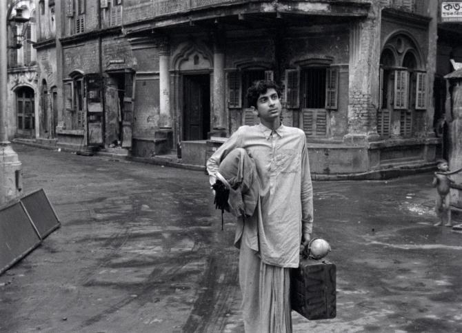 Smaran Ghosal as Apu in Aparajito . Credit: Courtesy of Janus Films.