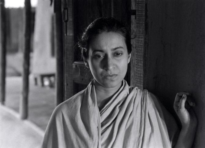 Karuna Banerjee as Sarbajaya in Aparajito . Credit: Courtesy of Janus Films.