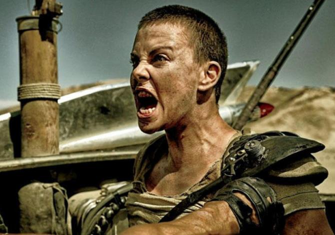 Charlize Theron in Mad Max: Fury Road .