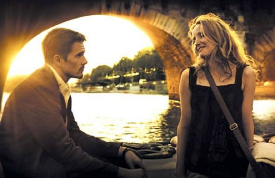 Jesse and Celine on the Seine, Richard Linklater's Before Sunset (2004).