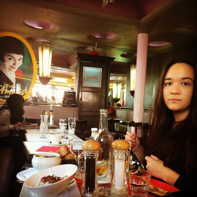 Cafe des Deux Moulins, 15 Rue Lepic.