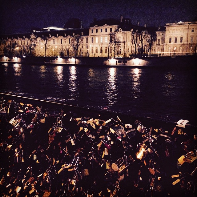 Pont Des Art, with lovers' locks.