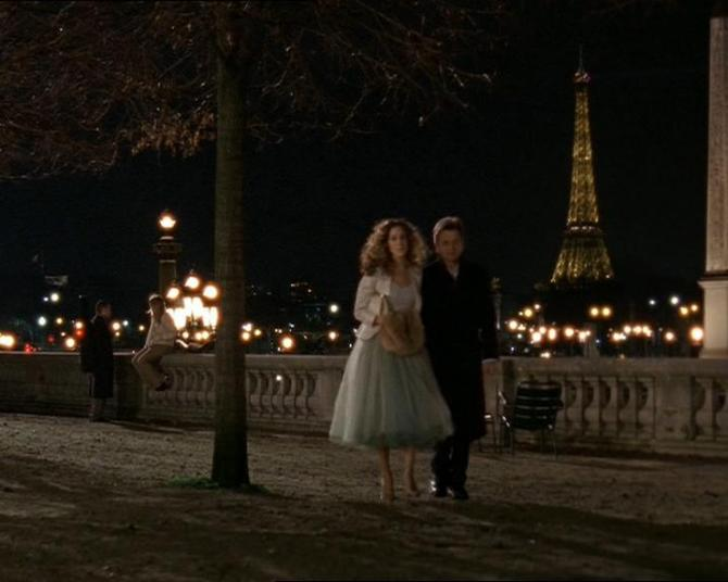 "Still of Carrie and Aleksandr from ""American Girl in Paris"" (2004)."