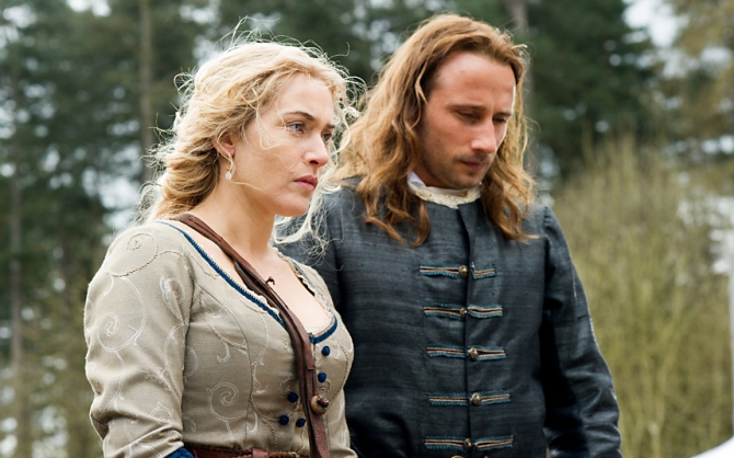 Kate Winslet as Sabine De Barra and Matthias Schoenaerts as André Le Nôtre in A Little Chaos . Credit: Alex Bailey/Focus Features.