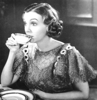 What good are sweets without tea? Here's ZaSu having around a sip, around 1934 or 1935. Credit: The Print Collector/Getty Images.