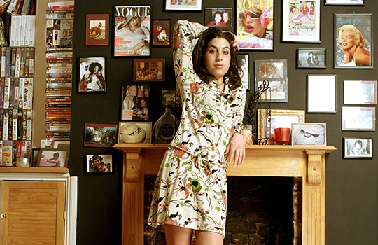 D 32808-05  Amy Winehouse  Obligatory Credit - CAMERA PRESS/Mark Okoh SPECIAL PRICE APPLIES. Jazz and soul singer Amy Winehouse poses for photos at her home in Camden, London.  Her debut album 'Frank' won an  Ivor Novello award and was released in October 2003.     2004