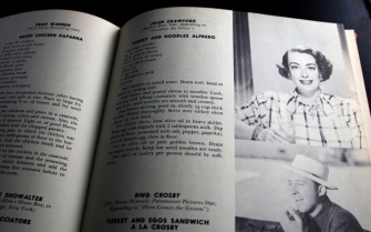 Pages from Paul Denis' Celebrity Cook Book. Credit: gourmet.com