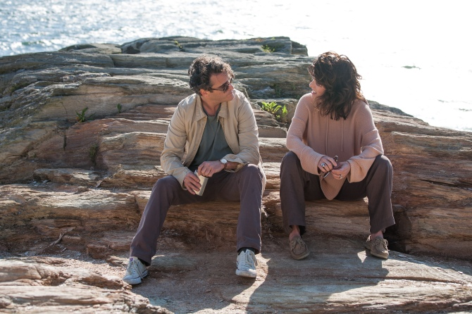 Joaquin Phoenix as Abe and Parker Posey as Rita in Irrational Man. Photo by Sabrina Lantos © 2015 Gravier Productions, Inc.; courtesy of Sony Pictures Classics.