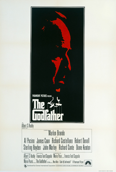 A poster for the British release of The Godfather. Credit: Movie Poster Image Art/Getty Images.