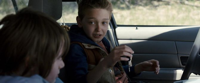 Harrison (Hays Wellford) and Travis (James Freedson-Jackson in Cop Car. Credit: Courtesy of Focus Features.