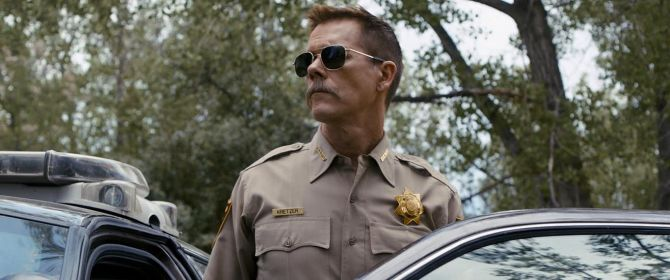 Kevin Bacon as Sheriff Kretzer in Cop Car. Credit: Courtesy of Focus Features.