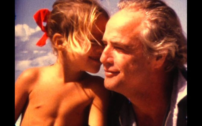 Cheyenne Brando with Marlon Brando. Credit: Mike Gillman/Showtime