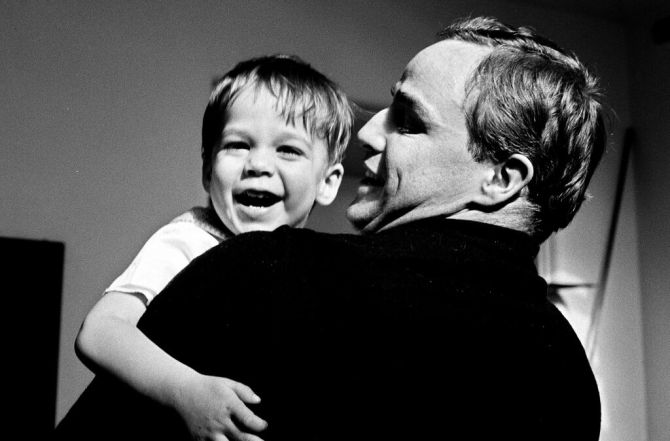 Christian Brando with Marlon Brando. Credit: Mike Gillman/Showtime.