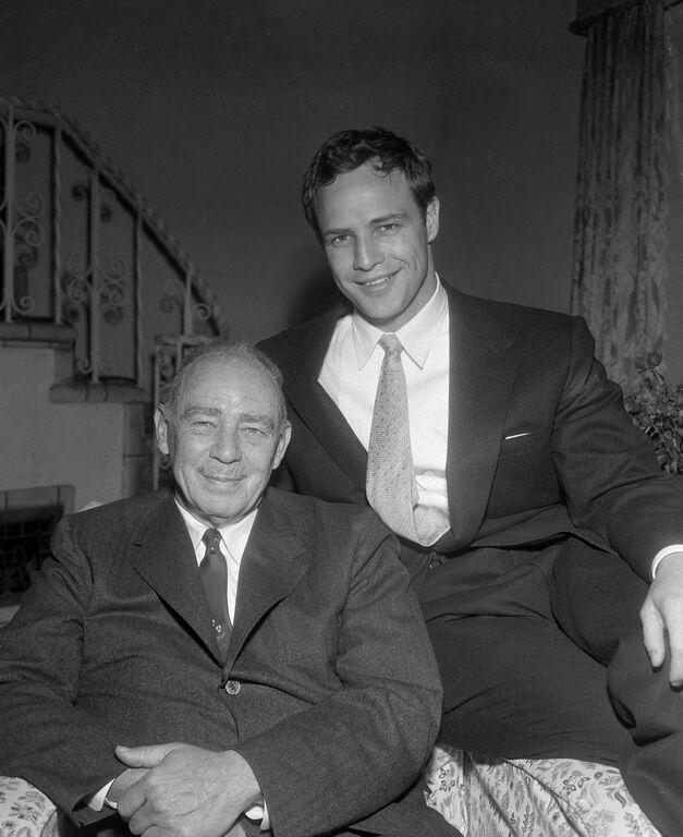 Marlon Brando with his father, Marlon Brando, Sr. at Brando's LA home. Credit: Getty Images/Showtime.