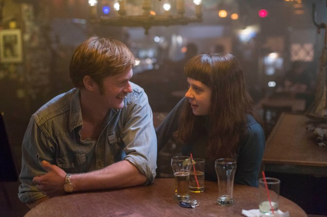 Two-for-one: Monroe (Alexander Skarsgård) and Minnie (Bel Powley) hit the bar in The Diary of a Teenage Girl.