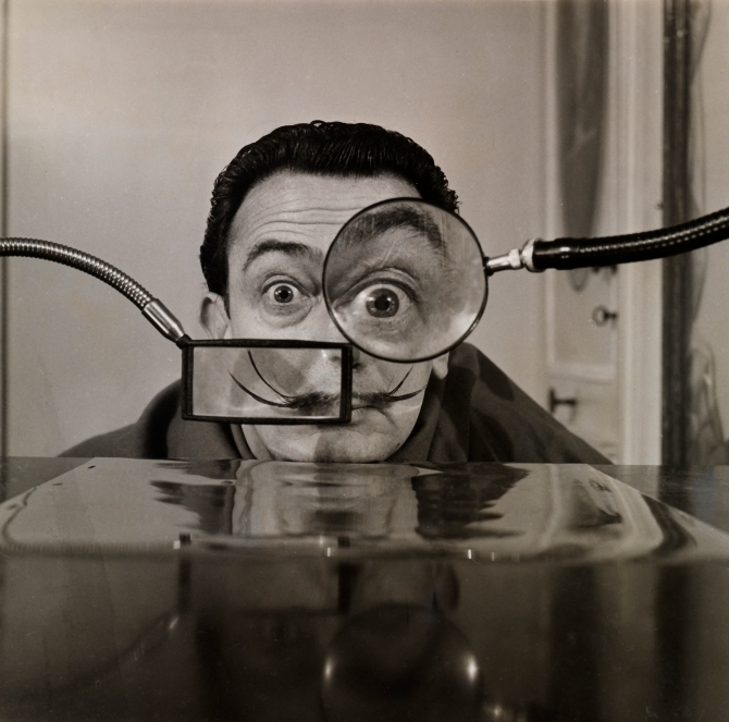Salvador Dalí, photographed for Paris Match by Wally Rizzo. (Courtesy: Collection Gala-Salvador Dalí Foundation.)