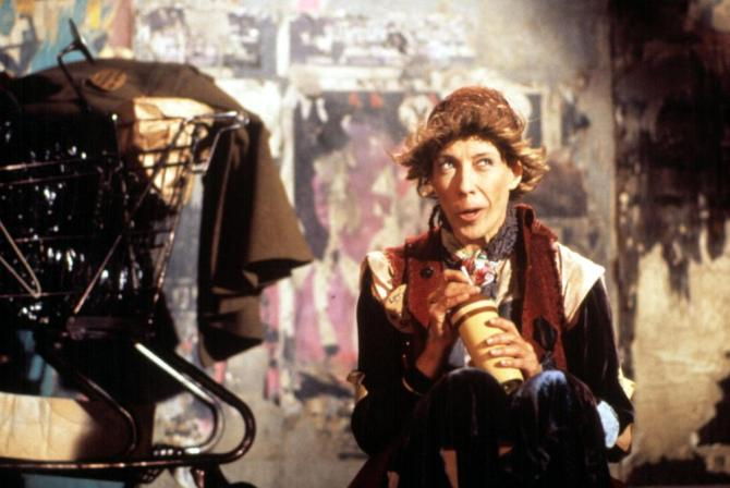 Lily Tomlin in the film version of The Search for Signs of Intelligent Life in the Universe.
