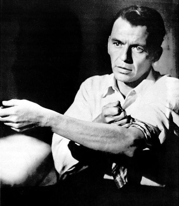 One shot of Sinatra as Frankie Machine in The Man with the Golden Arm.