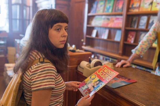 Comic book heroines: Minnie (Bel Powley) discovers Aline Kominsky in a shop that looks suspiciously like The Magazine in The Diary of a Teenage Girl.