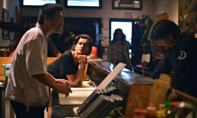 Production still from East Side Sushi. Credit: Courtesy of Anthony Lucero