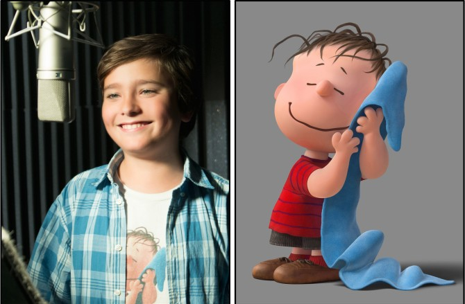 Alexander Garfin as the voice of Linus.