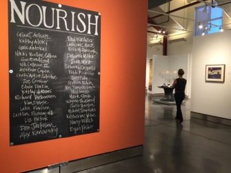 Installation view of NOURISH