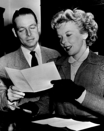 Collier Young with Ida Lupino.
